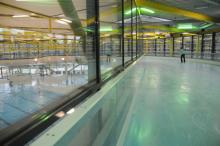 Inlinern statt Eislaufen heißt es auf der Hochbahn im Lentpark. (Foto: Helmut Löwe)