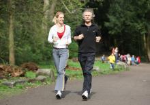 Monica Ivancan und Henning Krautmacher am vergangenen Donnerstag im Volkgarten.