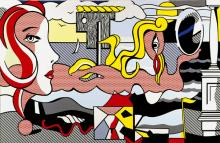 """Roy Lichtensteins """"Figures in Landscape"""" von 1977 © VG Bild-Kunst, Bonn 2010"""