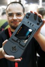 Der Atari Lynx auf der Retro-Gaming-Ausstellung Anfang der 90er wenig erfolgreicher PSP-Wegbereiter (Bild: ddp)