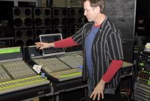 Jeff Hair: Manowars Mann für den guten Sound. (Foto: Helmut Löwe)