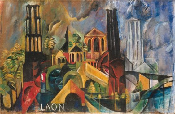 Max Ernst, Laon, 1916, Öl auf Leinwand, 65,6 x 100,5 cm, Museum Ludwig, Köln, Foto: RBA Köln,