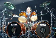 Metallica-Drummer Lars Ulrich: Besticht durch kraftvolles und akzentuiertes Schlagzeugspiel. (Foto: ddp)