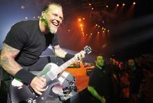 James Hetfield: Hat nach Alkohol- und Drogenexzessen die Kurve gekriegt. (Foto: ddp)