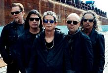 Metallica und Lou Reed (mitte): haben den Rock im Blut. (Foto: Anton Corbijn)