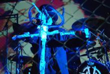 Al Jourgensen - Kopf und Mastermind von Ministry: Die Industrial-Metal-Legende war in der Live Music Hall 2008 auf Abschiedstour. (Foto: Helmut Löwe)