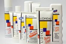 Verpackungen der Kosmetiklinie L'Oreal Studioline, 1986 © Rheinisches Bildarchiv Köln