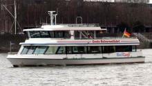 """Die MS RheinCargo neuestes Mitglied der """"Hafenrundfahrtsflotte"""". (Foto: Häfen und Güterverkehr Köln AG)"""
