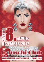 Muschi Club goes Gloria Theater (Flyer: Veranstalter Muschi Club)
