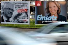 Duell um die Macht in NRW: Jürgen Rüttgers, Hannelore Kraft Foto: ddp