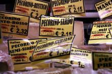 Große Auswahl an italienischem Käse: Parma-Delikatessen in Ehrenfeld. (Foto: Sebastian A. Reichert)