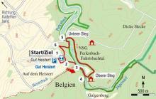 Die Wanderroute (Karte: Barbara Köhler)