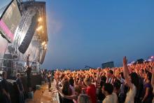 Euphorische Stimmung: Die Konzert-Besucher hatten ihre Tickets über eine Verlosung des Veranstalters gewonnen. (Foto: Telekom Street Gigs)