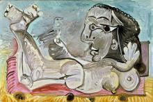 "Pablo Picasso ""Nu chouché à l'oiseau"" in der Sammlung Museum Ludwig"
