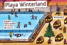 So stellen sich die Macher die Eisbahn samt Winterdorf vor.