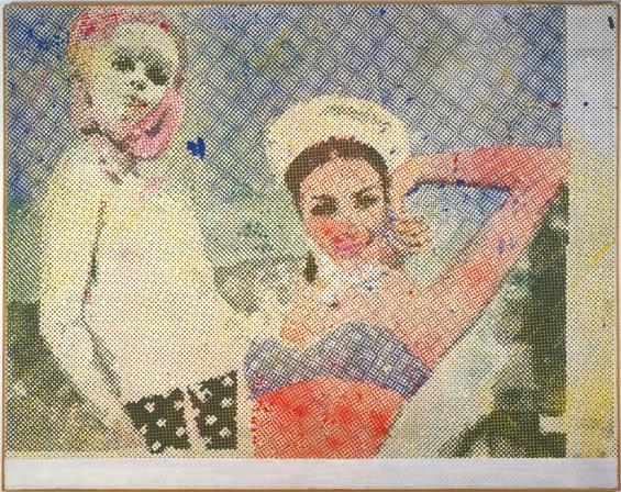 Sigmar Polke: Freundinnen,1965/1966 Dispersionsfarbe auf Leinwand 150 x 190 cm. Sammlung Froehlich, Stuttgart Foto: © Archiv der Sammlung Froehlich © The Estate of Sigmar Polke / VG Bild-Kunst Bonn, 2015
