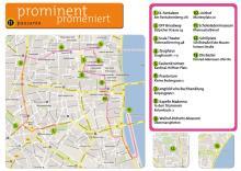 """Die empfohlenen Orte von """"prominent promeniert"""" in der Übersicht."""