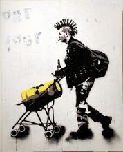 Graffiti-Bild mit politischem Statement von Van Ray