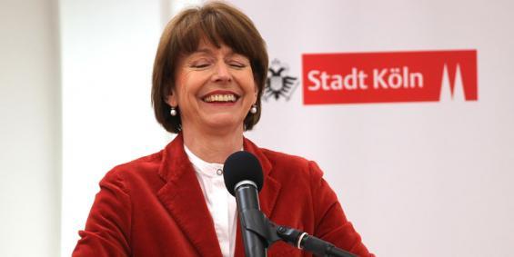 Henriette Reker bei der Bilanz nach 100 Tagen als Oberbürgermeisterin. Foto: Jürgen Schönlenalle