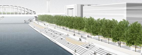 Der künftige Rheinboulevard in Deutz