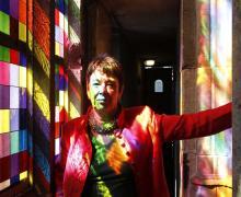 Barbara Schock-Werner vor dem Richter-Fenster. (Foto: dapd)
