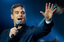 Robbie Williams gibt ein Geheimkonzert in Köln. (Foto: ddp)
