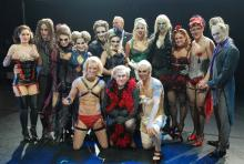 """Das Ensemble der """"Rocky Horror Show"""". (Foto: Helmut Löwe)"""
