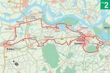 Die Route. Karten: M. W. Zakowski