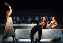 "Oper Köln: ""Salome"" Catherine Naglestad, ""Herodes"" Alexander Fedin, ""Herodias"" Dalia Schaechter Foto: Klaus Lefebvre"