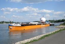 Ausstellungsschiff 2008 in Wesseling (Bild: Karin Scheubner)