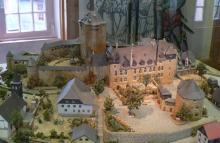 Ein Modell der Anlage im Burgmuseum (Foto: Olav Lahme)