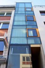 Ein Flur als Wohnung: Das schmalste Haus Kölns am Eigelstein 115. (Foto: Britta Schmitz)