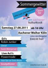 Der Flyer zur Party (Quelle: live-club-music.com)