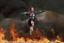 Ritter im Feuer auf dem Mittelalter-Festival (Foto: MPS Festival)