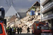 Am 3. März 2009 stürzte das Kölner Stadtarchiv ein (Foto: dapd)