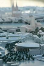 Köln Modell im Spanischen Bau des Kölner Rathauses. (Foto: Britta Schmitz)