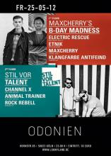 Flyer, Stil vor Talent & Maxcherry's B-Day