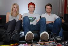 The Subways: Charlotte Cooper, Billy Lunn, Josh Morgan (v.l.n.r.). (Foto: Helmut Löwe)