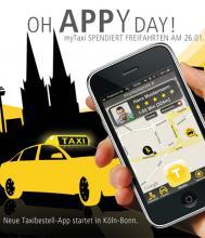 taxi bestellen mit einem knopfdruck. Black Bedroom Furniture Sets. Home Design Ideas