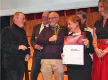 Verleihung des Ehrentheaterpreises 2012 an das N.N. Theater Foto: Jürgen Schön