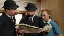 Tim mit den Detektiven Schulze und Schultze. (Credit: Sony Pictures)