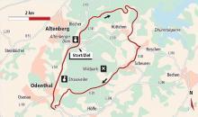 Der Streckenplan Karte: Barbara Köhler