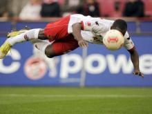 Anthony Ujah, hier bei seinem Treffer zum 1:0 gegen Ingolstadt, fühlt sich wohl in Köln. (Archivfoto: dpa)