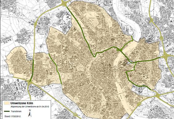Umweltzone München Karte.Umweltzone Koeln De