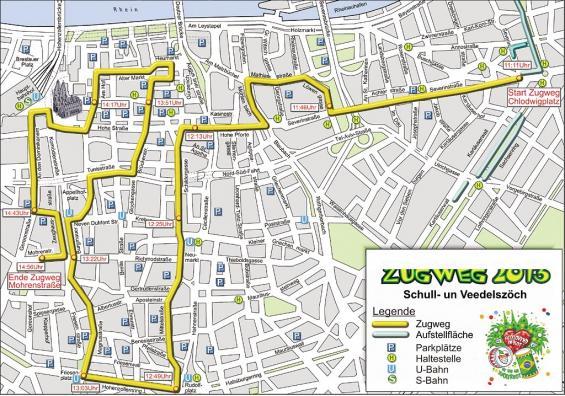 Schull- und Veedelszöch 2013: Der Zugweg