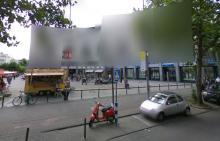 Verpixelte Häuser in der Venloer Straße. (Quelle: Street View)