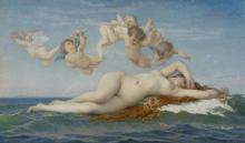 Geburt der Venus Alexandre Cabanel, 1863, Öl auf Leinwand, Musée d'Orsay, Paris
