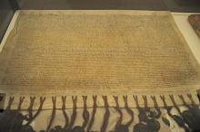Der Verbundbrief konnte gerettet werden. Die Siegel wurden allerdings durch den Druck beschädigt.