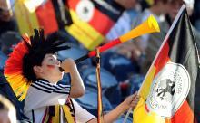 Verboten: Vuvuzela im Einsatz. (Foto: ddp)