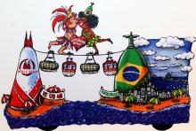 Eine Seilbahn verbindet die Karnevalsmetropolen Köln und Rio über den Ozean hinweg. (Foto: Helmut Löwe)